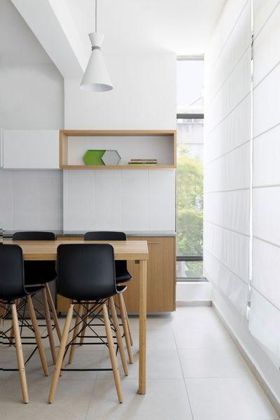 几何趣味80平纯净北欧风公寓设计_6