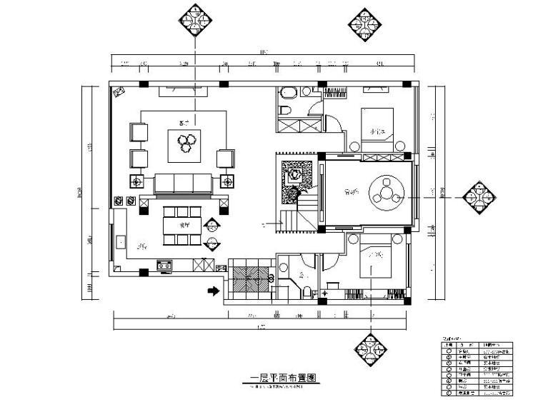 一套详细的简约复式三居室设计施工图(含效果图)