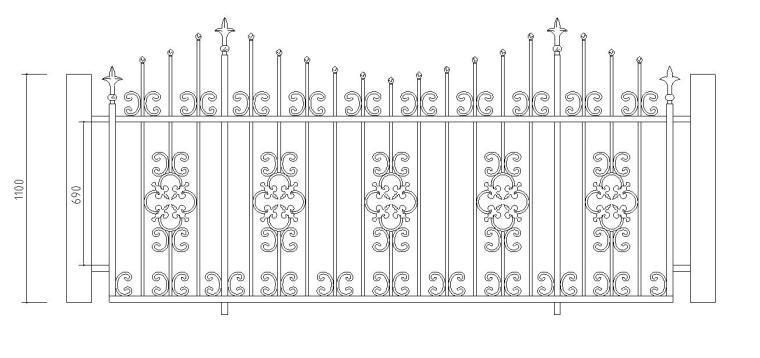 161个CAD建筑常用欧式铁画大样图