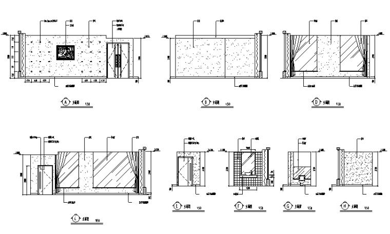 20套餐饮空间装修设计施工图_4