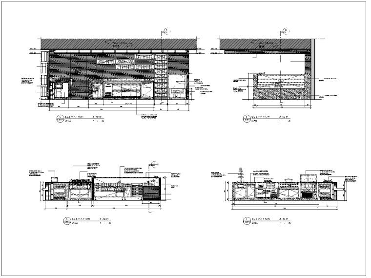 皇冠酒店全日餐厅室内装修全套施工图(含30个CAD图)
