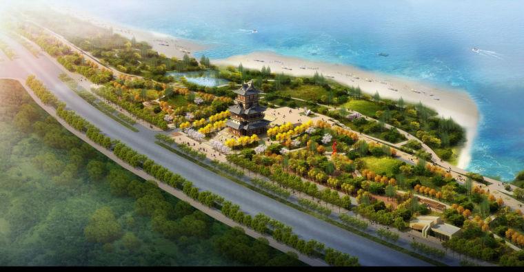 园林古建筑中式园林建筑模型规划设计
