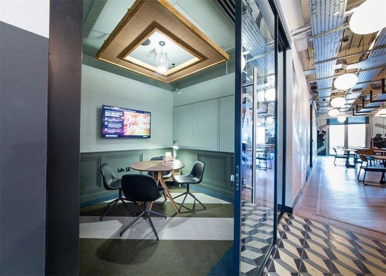 咖啡厅风格的联合办公空间-帕丁顿区WEWORK联合办公室室内实景图 (6)