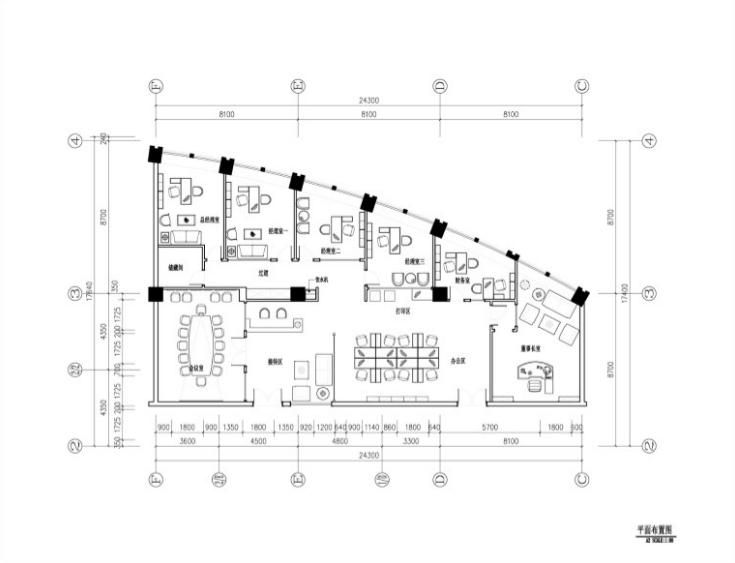 混搭风格办公空间装修施工图及效果图(含112张施工图纸)