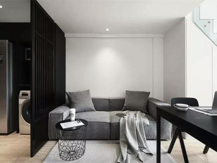 黑白灰打造的高品质居住空间