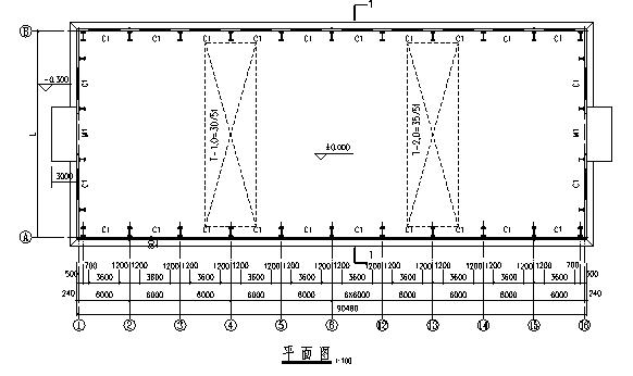 厂房普通梯形钢屋架设计(word,15页)