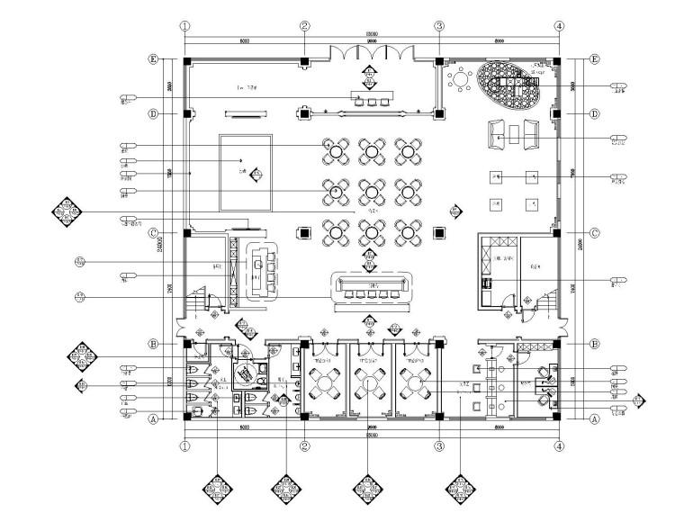 [苏州]欧式风格大型房地产售楼处装饰施工图(附效果图)