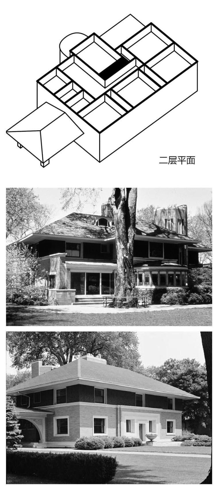 图解赖特建筑设计时期(一)_6