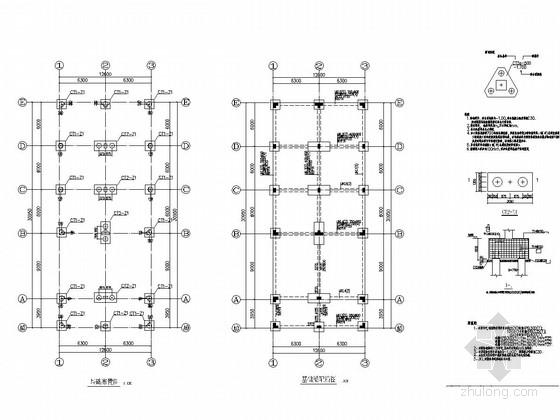 水果深加工厂消防水泵房结构施工图