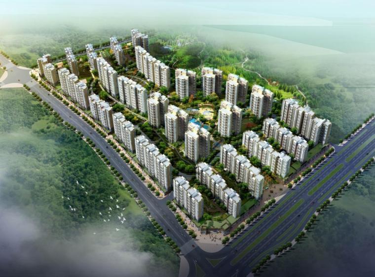 [江西]十八层现代风格山庄住宅建筑设计方案文本(含商业)