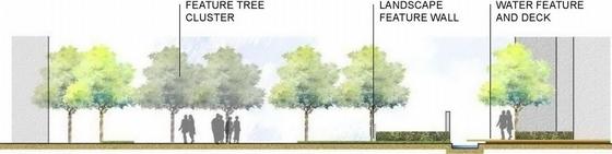 """[广东]""""编织""""主题社区道路及周围绿化景观设计方案(知名设计所双语)-竖向设计图"""