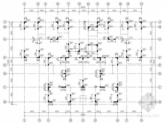 19层住宅剪力墙结构施工图(筏板基础,含建施)