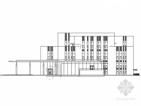 现代风格4层售楼处建筑设计施工图