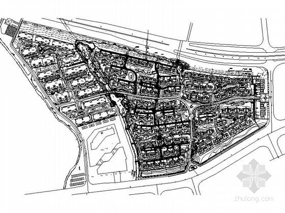 [南京]高档别墅区景观规划设计施工图