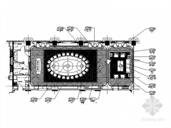 [南通]白金五星级酒店奢华欧式法国厅贵宾室CAD装修图