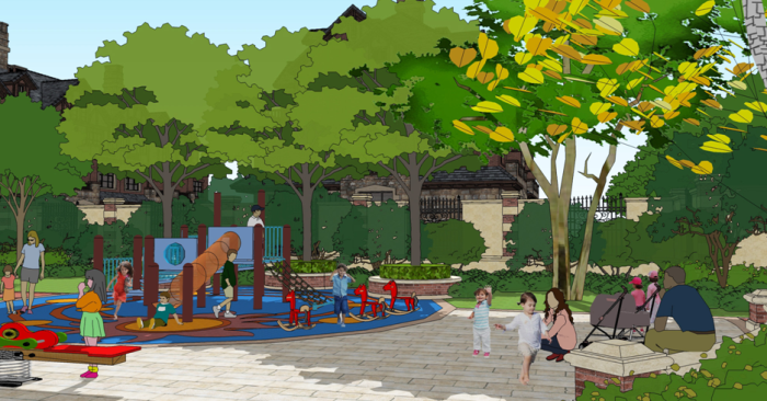 [河北]牛顿方案高级住宅区景观规划设计庄园-居农村房屋v方案效果图三层平顶图片