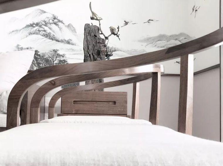 新中式徽派元素山水画为轴线的家装设计_14
