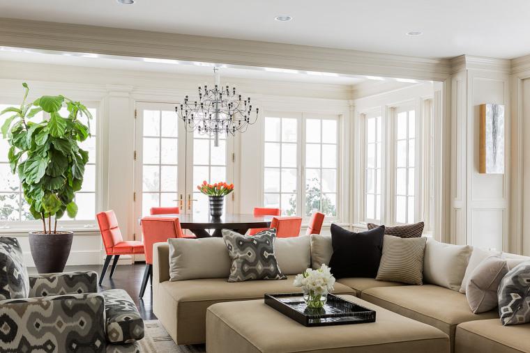 [住宅]纽约布鲁克林时尚美式住宅设计效果图