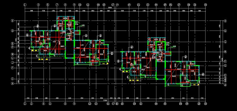 十一层高层住宅楼全套结构设计图纸