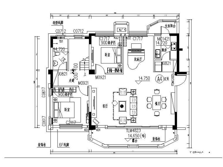 [成都]现代简约优雅都市三层住宅装修设计施工图(含实景图)