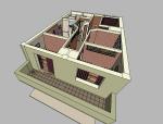 欧式风格会所室内设计|SU模型