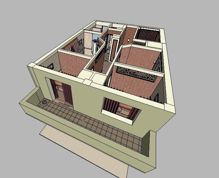 欧式风格会所室内设计 SU模型