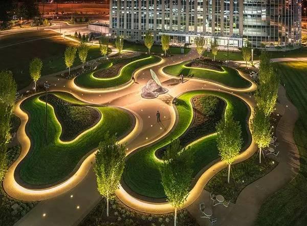 景观灯光设计。当灯光碰上景观,浪漫的夜晚就开始了!_1
