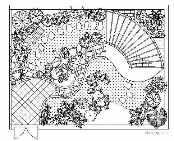 三种花园庭院景观设计图