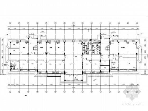 [湖南]多层行政办公楼空调通风及防排烟系统设计施工图