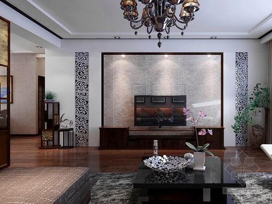简中式客厅3D模型下载