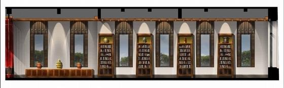 [拉萨]高山雪域首家豪华奢华酒店设计方案图图书馆休息室立面图