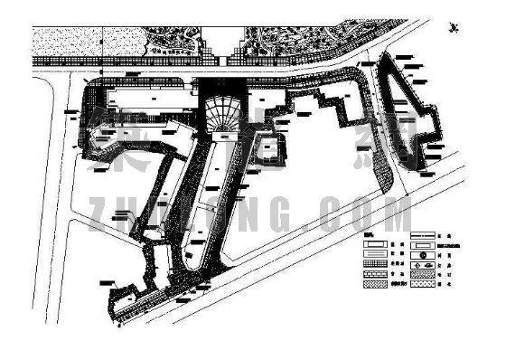 川西民居风格商业街施工图全套
