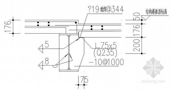 钢梁与楼承板连接节点构造详图