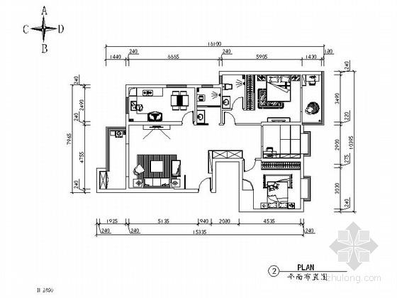 [武汉]三室两厅室内装修图