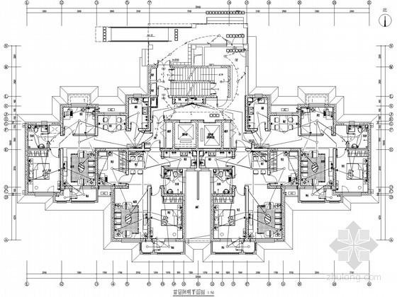 [天津]24层单元式高层住宅电气施工图