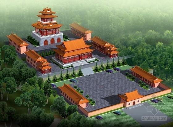 [福建]寺庙建筑安装工程预算及工程量计算(含全套施工图纸)