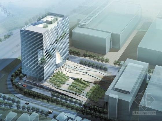[深圳]裂口磐石造型高层科技大厦建筑设计方案文本