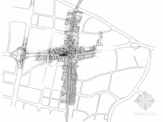 [湖南]地铁换乘站岛式地下二层明挖车站设计图纸177张(含交通疏解及管线迁改)