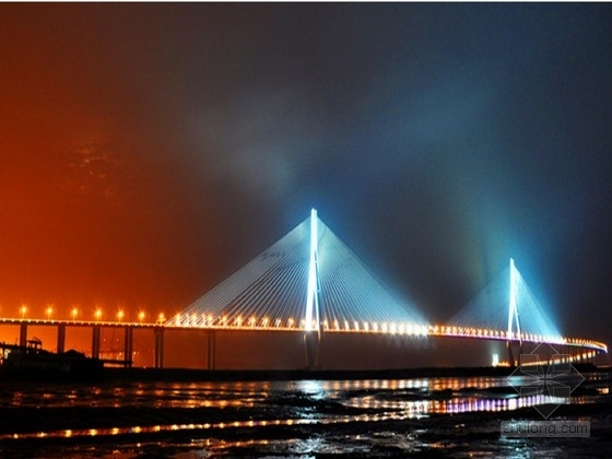 [湖北]组合混合梁Y型索塔双索面半漂浮体系斜拉桥及连续T梁引桥图纸688张