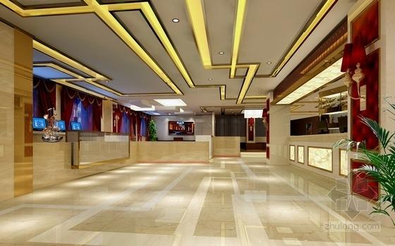 [武汉]商业街大型综合量贩时尚古典KTV装修图(含效果)大厅效果图