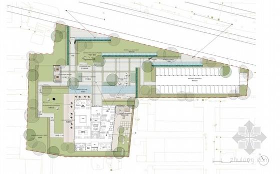 [深圳]绿色生态现代简约风格售楼中心景观概念设计(原创)-方案一平面图
