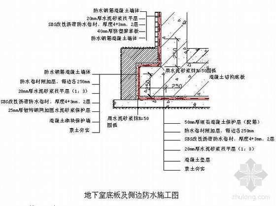 天津市某地下室SBS改性沥青防水卷材防水施工方案