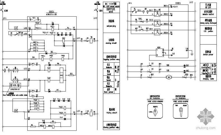 22KV母联断路器保护控制接线图