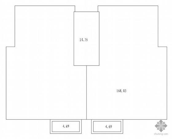 板式多层一梯二户二室一厅一卫户型图(94/94)-2
