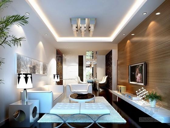 时尚简约客厅3d模型