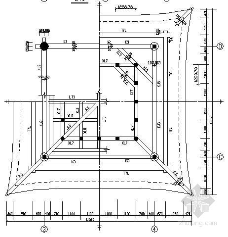 混凝土仿古建筑某寺庙结构施工图
