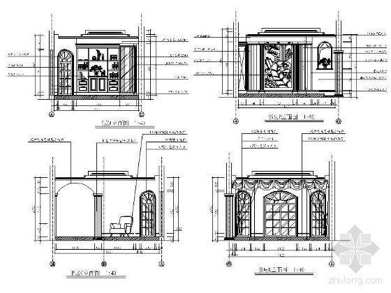 欧式书房立面设计图