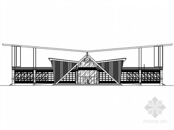 某二层博物馆建筑设计方案图(含效果图)