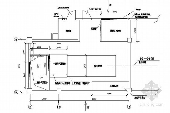 武汉某酒店发电机房平面布置图