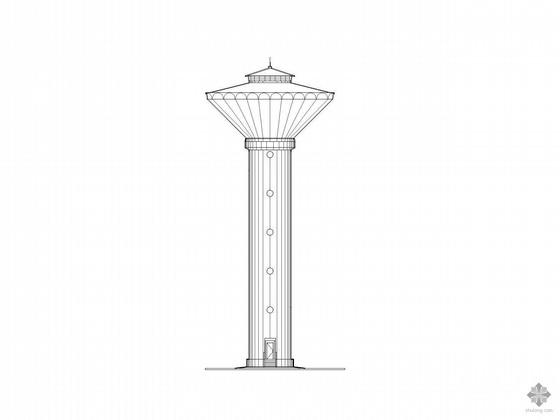 [重庆]某工业水测试站--水塔建筑施工图